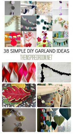 38 simple DIY garland ideas - would be good for christmas time!