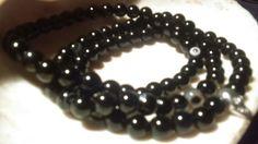 Unisex black Agate evil eye & skull Round 6mm Beaded 3 Stretch Bracelets 7' #lihangmad6 #Beaded