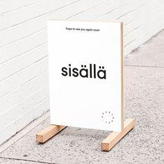 Minimal signage by @mildredandduck #minimaldesign #mnml #typographyinspired