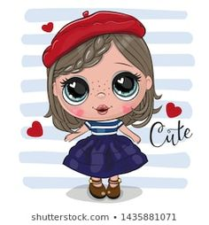 Cute Cartoon Girl In Red Beret Royalty Free Vector Image nettes karikatur-mädchen im. Baby Cartoon Movies, Cute Baby Cartoon, Girl Cartoon, Cartoon Characters, Cute Kids, Cute Babies, Rainbow Cartoon, Cartoon Elephant, Elephant Baby