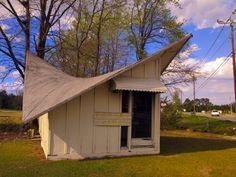 Hyperbolic Roof Building, Mount Olive, NC by Dean Jeffrey, via Flickr