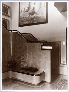 Art Deco Staircase 1930s, architect :Dorp, H. van