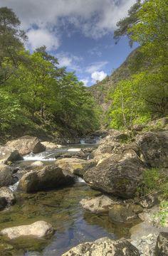 The Aberglaslyn Pass near Beddgelert, #Wales