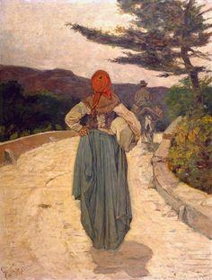 Giovanni Fattori (Livorno, 1825 - Firenze, 1908) La strada bianca