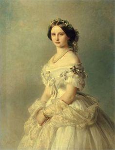 Portrait of Princess of Baden  Artist: Franz Xaver Winterhalter  Completion Date: 1856  Style: Neo-Rococo  Genre: portrait