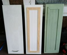 Kitchen Cabinet Refacing--Soooo cute! I might have to do something about our hideous cabinets it'll be awhile before we do the kitchen and I'm soooo over them!