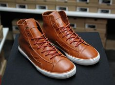 Caramel Leather shoes please