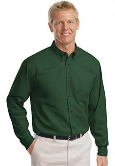 Port Authority Men's Big and Tall Long Sleeve Easy Care D...