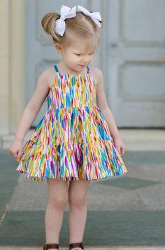 Baby Dress Design, Baby Girl Dress Patterns, Frock Design, Little Girl Dresses, New Baby Dress, African Dresses For Kids, Romper Pattern, Top Pattern, Frocks For Girls