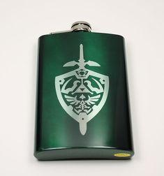 Legend of Zelda 8 oz hylienne bouclier fiole par EmporiumOfFluffLLC