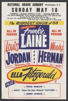 Classic 1953 Jazz Concert Program