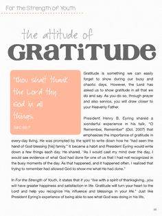 Yesterday in YW, our lesson was about the importance of gratitude. At the end of the lesson I gave the girls and leaders a challenge to b...