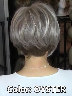 """It can not be repeated enough, bob is one of the most versatile looks ever. We wear with style the French """"bob"""", a classic that gives your appearance a little je-ne-sais-quoi. Here is """"bob"""" Despite its unpretentious… Continue Reading → Grey Wig, Short Grey Hair, Short Hair Cuts, Short Hair Styles, White Girl Afro, Choppy Bob Hairstyles, White Hair, Shades Of Grey, Lace Front Wigs"""