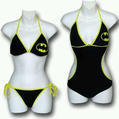 This past week GeekAlerts showed you the Batman Bikini & Monokini Swimsuits and we thought it was only appropriate that Supergirl and Wonder Woman fans get to Batman Love, Batman And Superman, Batman Stuff, Batman Robin, Batman Arkham, Batman Art, Estilo Geek, Nananana Batman, Batman Outfits