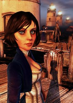 Everything and all things BioShock Infinite. Bioshock Game, Bioshock Series, Video Game Art, Video Games, Bioshock Infinite Elizabeth, Elizabeth Comstock, Elisabeth, Female Characters, Witch Doctor