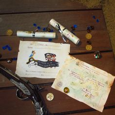 A Treasure Hunt Pirates and Mermaids - invitation for children between 8 and 10 years old