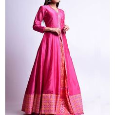 Beautiful Silk Anarkali jacket with Silk skirt(Ghaghra) Vasansi Jaipur, Anarkali, Mehndi Function, Kurti Designs Party Wear, Indian Couture, Saree Dress, Silk Skirt, Summer Sale, Traditional Dresses