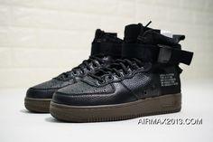 half off 11259 5c663 Nike SF Air Force 1 Mid 917753-002 Black Black-Dark Hazel Skateboard Shoes  Discount