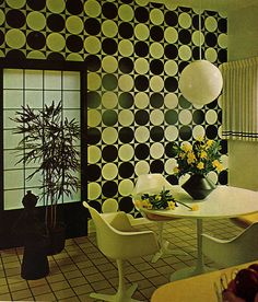 Black and White Checkers Breakfast Room
