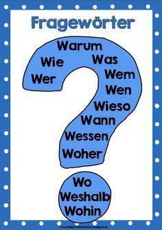 Vielleicht kann ja der eine oder andere von euch dieses Plakat zu den Fragewörtern für sein Klassenzimmer gebrauchen. Besonders im Deutschu...