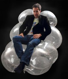 BARBAIRELLA inflatable  long chair pneumocell