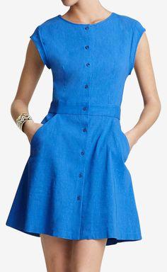 Theory Primary Blue Dress   VAUNTE