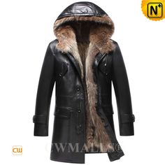 CWMALLS® Mens Convertible Fur Lined Leather Hooded Coat CW836025 Fashion men's fur coat made of natural raccoon fur lined and smooth sheepskin leather shell, versatile convertible fur leather coat featuring with removable raccoon fur vest with hood lined, and hooded leather jacket shell,its defends you against cold. www.cwmalls.com PayPal Available (Price: $1817.89) Email:sales@cwmalls.com