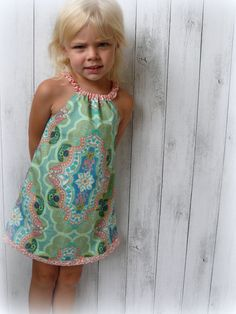 Girls Summer Dress by LittleMacsClothing on Etsy, $32.00
