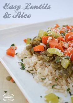 This is an easy and inexpensive vegetarian/vegan meal that tastes great. It uses lentils and brown rice and any vegetables that you have on hand can be added.