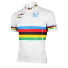 Santini UCI World Road Champion Rainbow Jersey. Pro BikeBike KitCycling ... 0926e17f9
