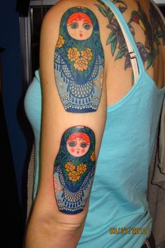 matryoshka tattoo by paul taylor, gifted spider tattoo studio, san francisco
