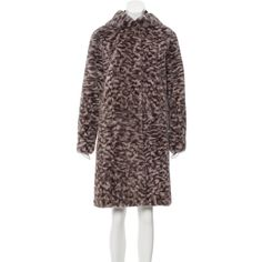 Pre-owned Oscar de la Renta Reversible Mink Coat ($4,995) ❤ liked on Polyvore featuring outerwear, coats, animal print, oscar de la renta, leopard mink coat, reversible coat, brown mink coat and mink fur coat