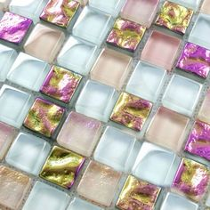 Crystal glass tile sheets square iridescent mosaic metal electroplated pattern kitchen backsplash tiles mirror bathroom designs
