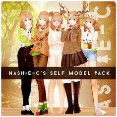 Nashie-C's Self Model Pack! by Nashie-C.deviantart.com on @DeviantArt