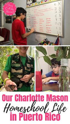 Check out how this family lives a Charlotte Mason homeschool life in Puerto! Liza shares with us why they choose to homeschool, what they use and more! Homeschool Blogs, How To Start Homeschooling, Parenting Articles, Charlotte Mason, Teaching Spanish, Phonics, Puerto Rico, Nature Study, Blogging
