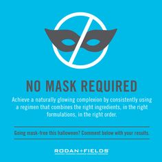 No need to hide your face this Halloween! #uwillloveyourskin  #Rodanfields