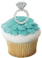 For your Breakfast At Tiffany bridal shower our Diamond  Ring Party Picks are perfect on top of cupcakes or appetizers.