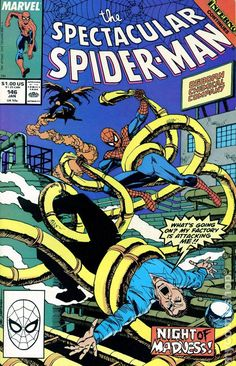 Spectacular Spider-Man (1976 1st Series) 146  Marvel Comics Peter Parker Comic book covers Super Heroes  Villians  Amazing Astonishing silver bronze modern age Night of Madness Hobgoblin
