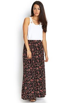 Floral Maxi Skirt | FOREVER21 #F21Contemporary
