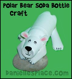 Polar Bear Soda Bottle Craft