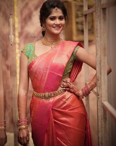 Image may contain: 1 person, standingYou can find Wedding sarees and more on our website.Image may contain: 1 person, standing Wedding Saree Blouse Designs, Half Saree Designs, Pattu Saree Blouse Designs, Blouse Designs Silk, Wedding Sarees, Designer Sarees Wedding, Bollywood Wedding, Bollywood Saree, Bridal Sarees South Indian