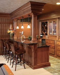 Furniture: Stunning Basement Kitchen Ideas With Bar Ideas Wine ...
