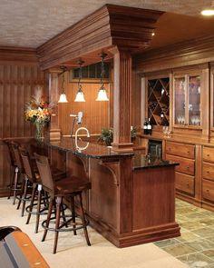 Furniture: Stunning Basement Kitchen Ideas With Bar Ideas Wine ...