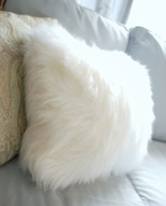 Faux fur pillows from a surprising source | Censational Girl | Kate Riley