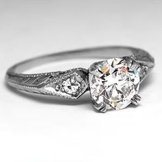 1940's Vintage Engagement Ring in Platinum. this is my dream ring not to much going on but not to little where its boring..I love vintage!!!!
