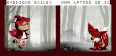 Digital prints © Monique Piscaer Bailey. Available at www.artzoo.co.za