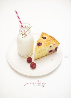 cake alla ricotta e lamponi