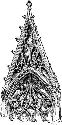 Flamboyant Tracery. Rouen Cathedral, France. Flamboyant Style is last phas of French Gothic architecture in the second half of the 15th cent., characterized by flowing and flame-like tracery