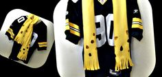 Green Bay Packers cheese scarf.