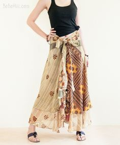 Unique Reversible Wrap Around Layered Gypsy Skirt Best Wraps, Burning Man Outfits, Hippie Skirts, Gypsy Skirt, Handmade Clothes, Boho Chic, Rs 4, Lady, Unique